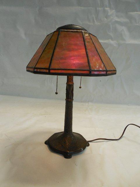 Tiffany Studios Zodiac Desk Lamp w/Leaded Shade