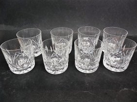 8 Waterford Lismore Old Fashioned Glasses
