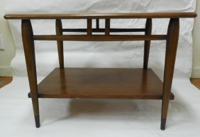 Pr (2) Lane Mid Century Walnut Lamp Tables