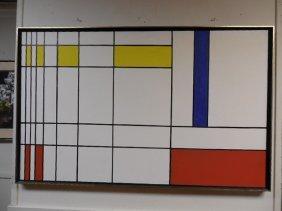 Mondrian Style Painting Oil/board
