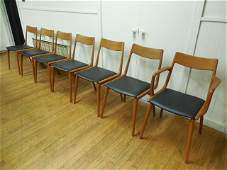 Set (7) Falster, Denmark, Dining Chairs