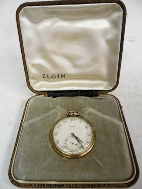 Elgin Crusader 14k Gold Pocket Watch