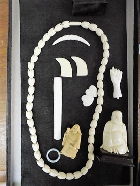 Eleven (11) Pcs Carved Bone/ivory