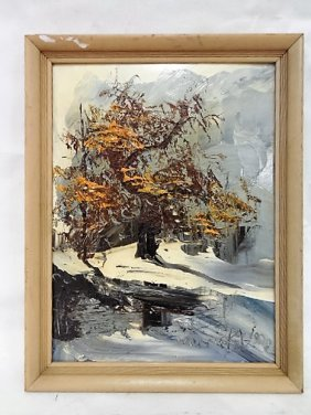 O/b Tree In Winter By Morris Katz