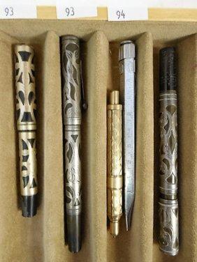 3pcs - 2 Mechanical Pencils & Fountain Pen Case