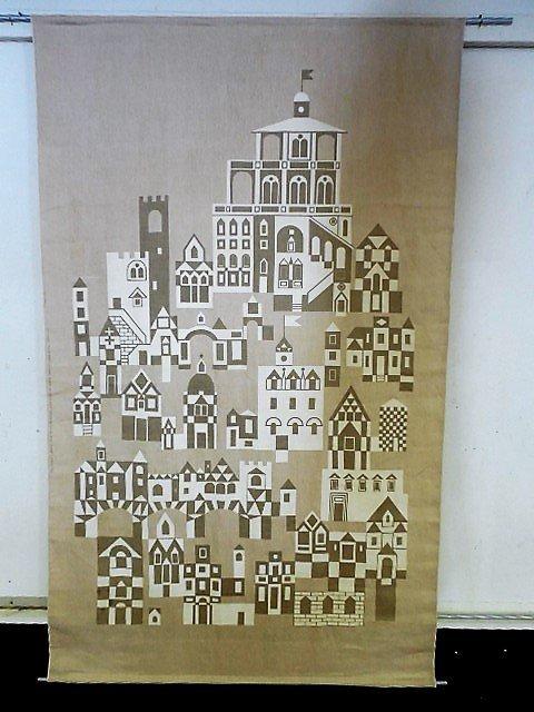Alexander Girard Hand Screened Fabric Panel