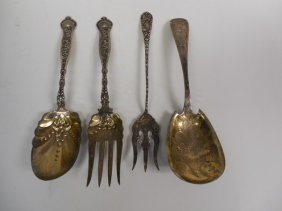 4pcs Sterling Silver Serving Items