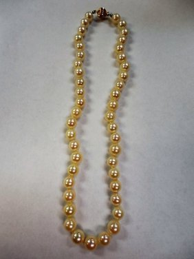 Cultured Pearl Strand W/14k Gold Clasp