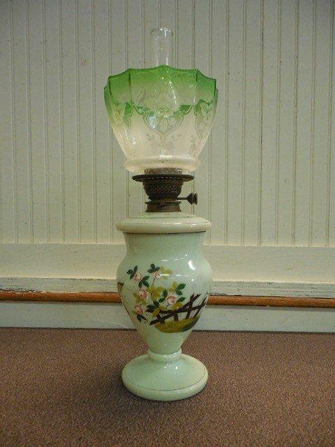 Bristol Glass Duplex Burner Banquet Oil Lamp