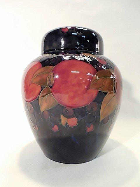 Moorcroft Pomegranate Jar with Lid