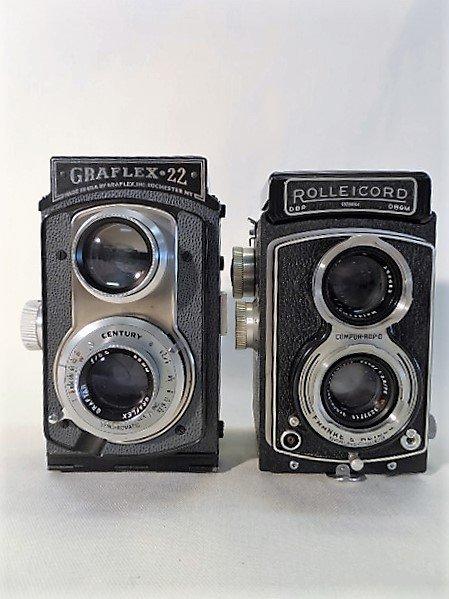 2 Cameras, Rolleicord Compur Rapid & Gradlex 22