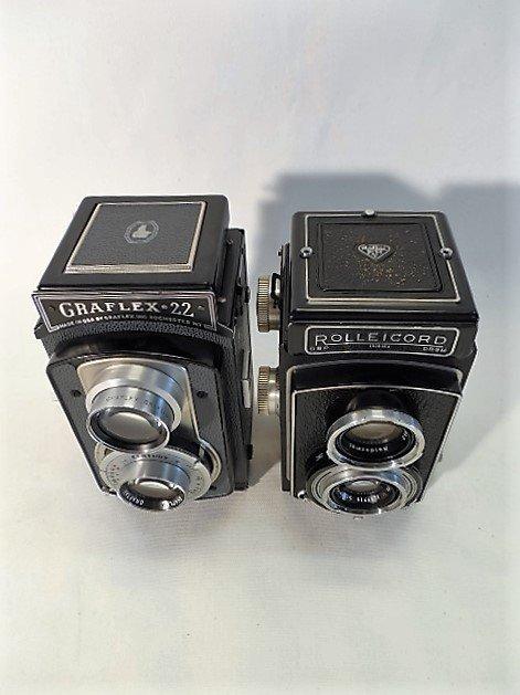 2 Cameras, Rolleicord Compur Rapid & Gradlex 22 - 2