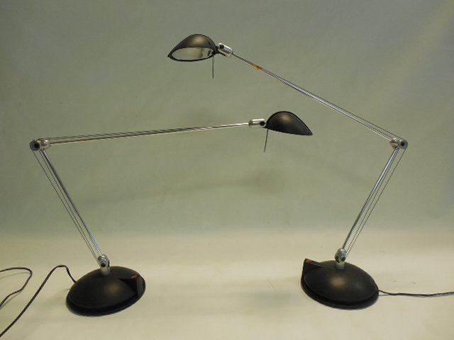 Two (2) Italian Modern Desk Lamps by Artemide, Italy