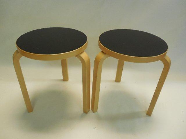 Pair (2) Original Alvar Aalto Design for Artek Tables - 2