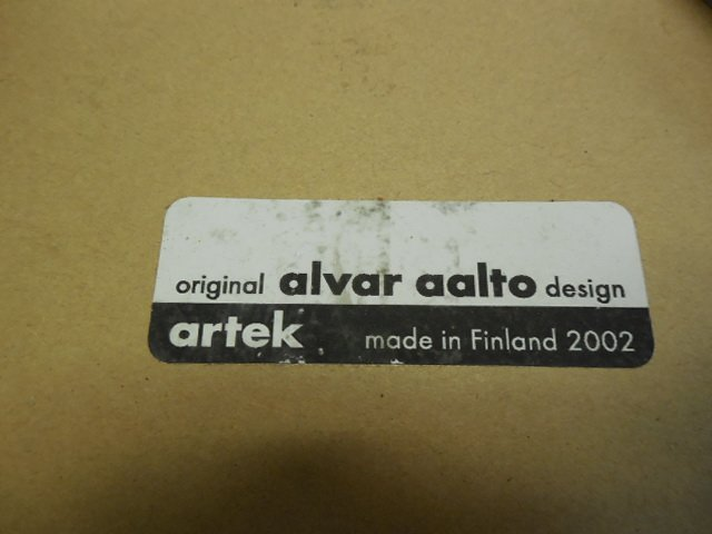 Pair (2) Original Alvar Aalto Design for Artek Tables - 3