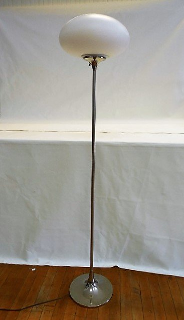 Laurel Mushroom Chrome Floor Lamp, 1960's