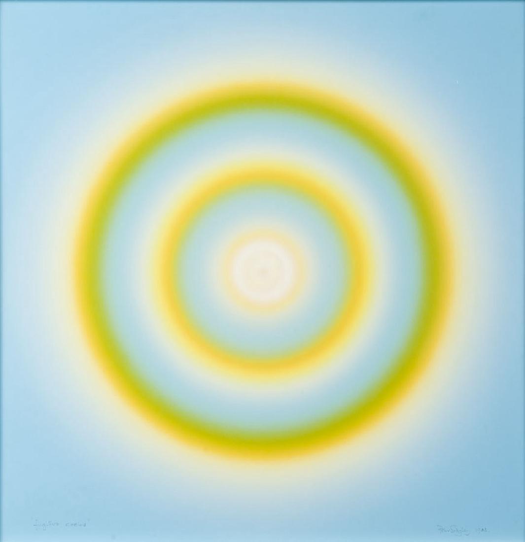 """Peter Sedgley (b. 1930) """"Fugitive circle"""", 1983,"""