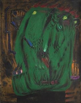 "Tadeusz Brzozowski (1918 - 1987) ""Cardsharper"", 1982,"
