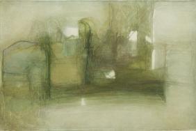 Jerzy Stajuda (1936 - 1992) Composition, 1981, oil on