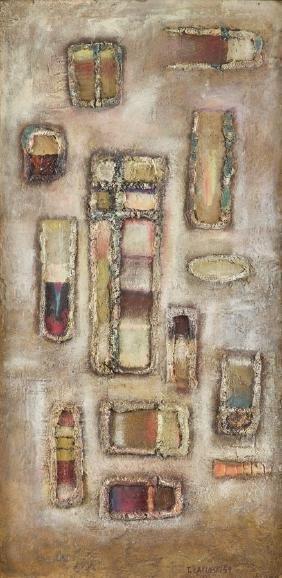 Tadeusz Lapinski (1928 - 2016) Composition , 1959, oil