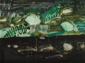 "Tadeusz Dominik (1928 - 2014) ""Composition"", oil on"