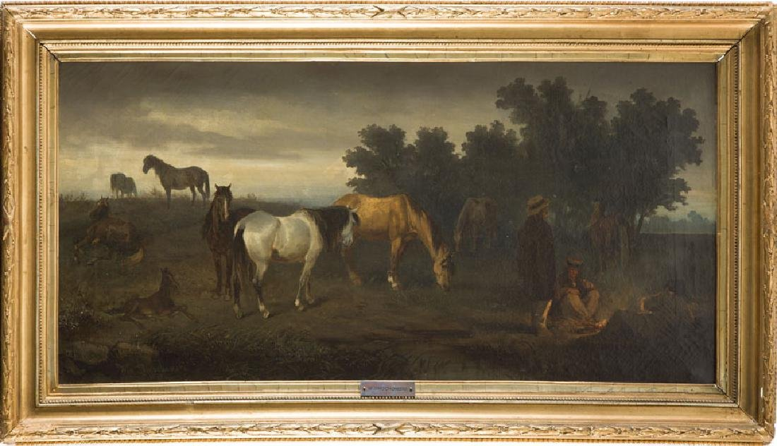 Wladyslaw Dmochowski In Pasture, 1879; oil on canvas, - 7