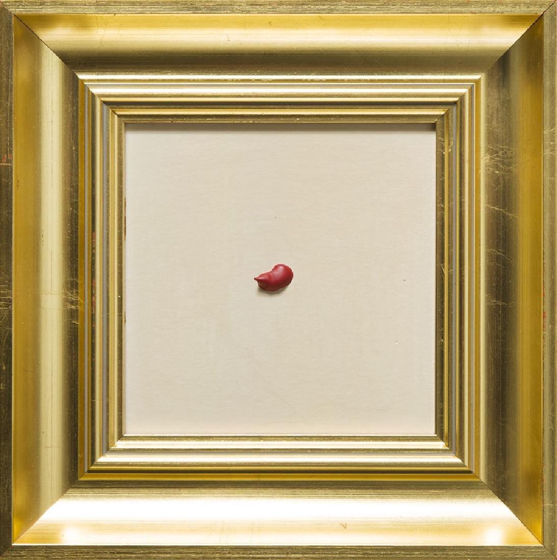 Edward Krasinski (1925 - 2004) Drop; oil on paper, 15.2