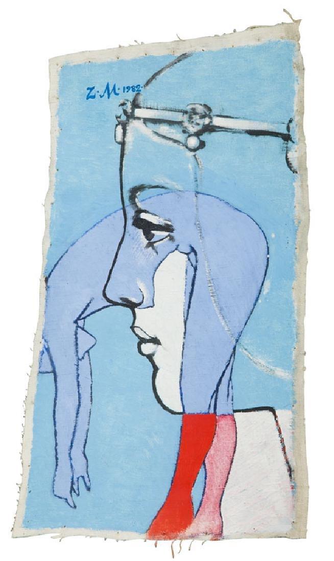 Zbigniew Makowski (b. 1930) Figure, 1982; oil on