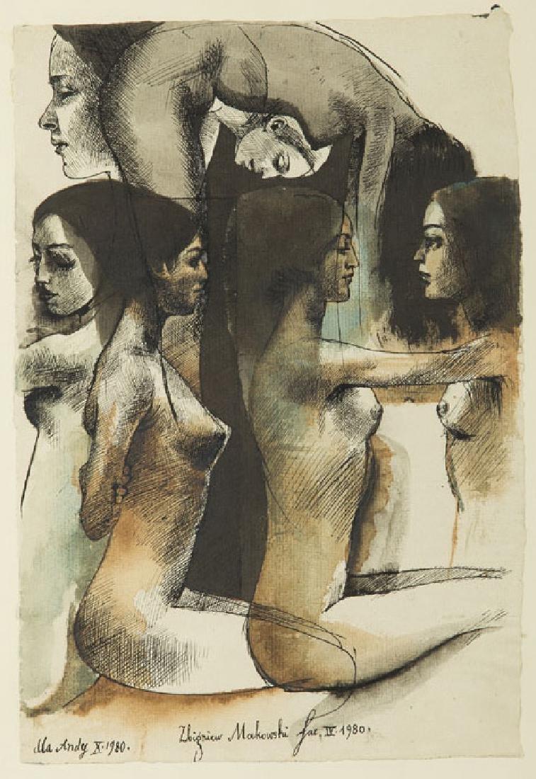 Zbigniew Makowski (b. 1930) Untitled, 1980;
