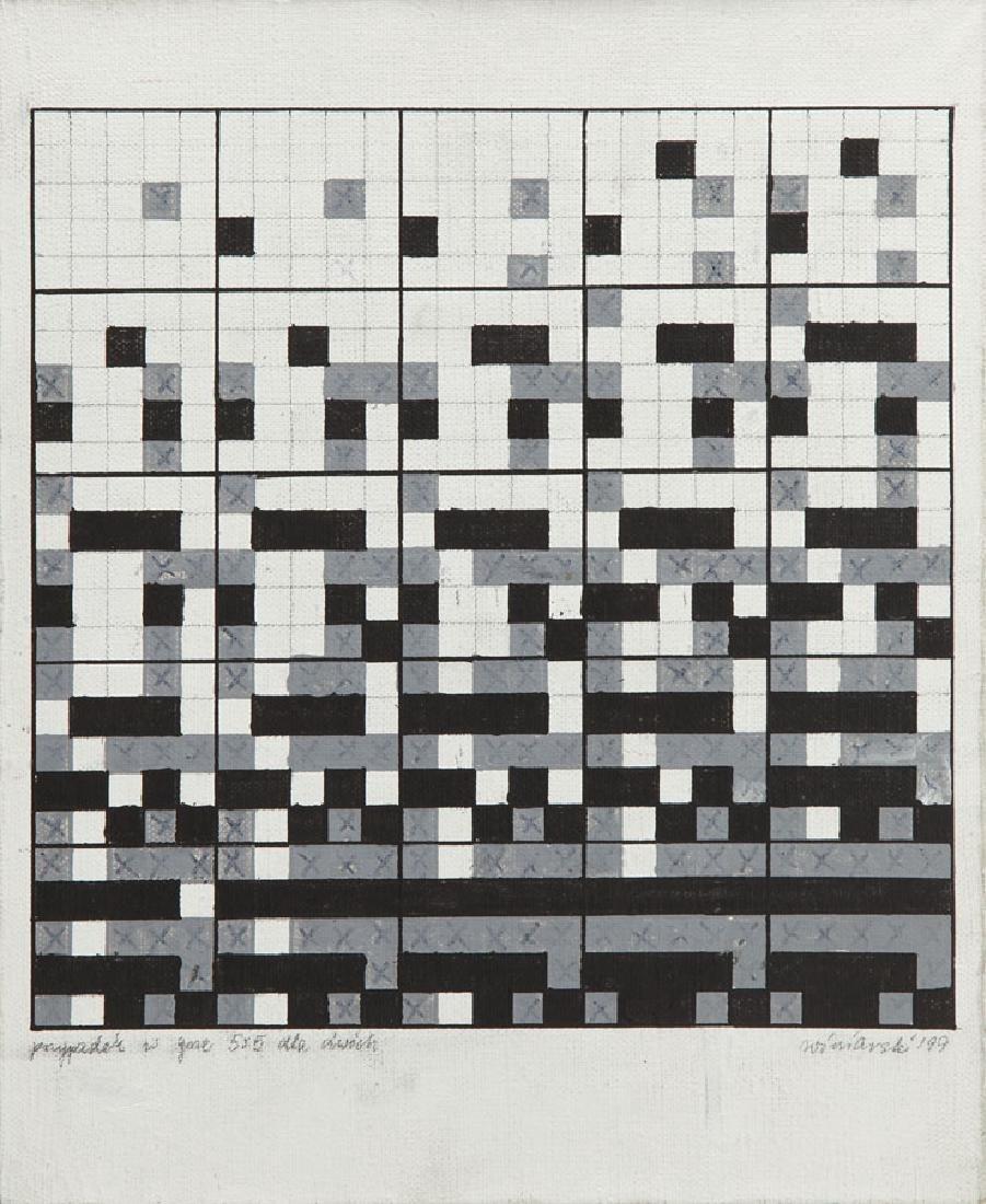 "Ryszard Winiarski (1936 - 2006) ""Chance in Game 5 x 5"