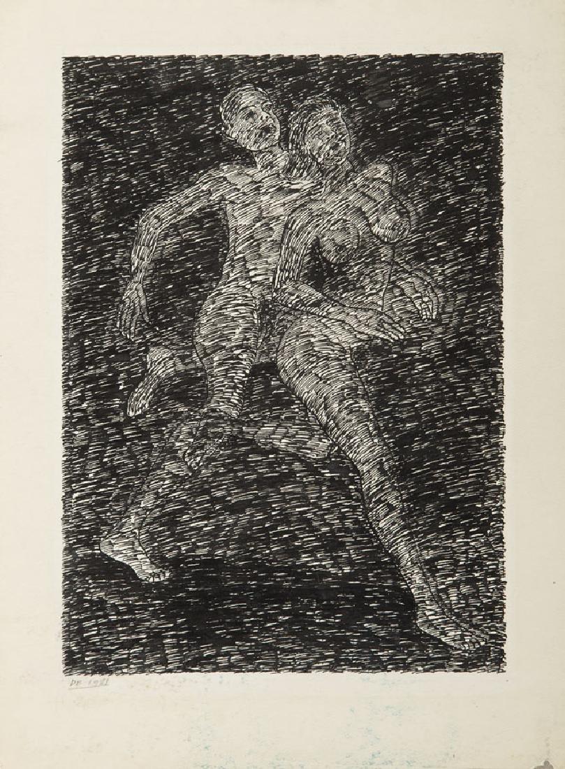 """Derek Boshier (b. 1937) """"The Race"""", 1981; ink on paper,"""