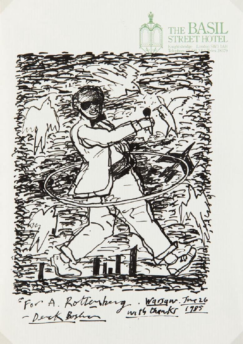 Derek Boshier (b. 1937) Untitled, 1985; ink on paper,