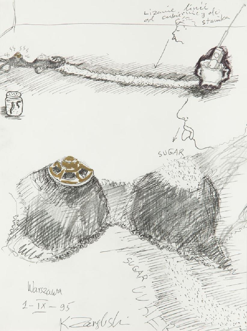 """Krzysztof Zarebski (b. 1939) """"Sugar"""", 1995; pencil,"""
