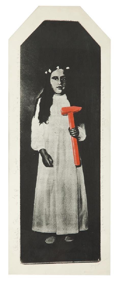 """Eugeniusz Get-Stankiewicz (1942 - 2011) """"Girl with a"""