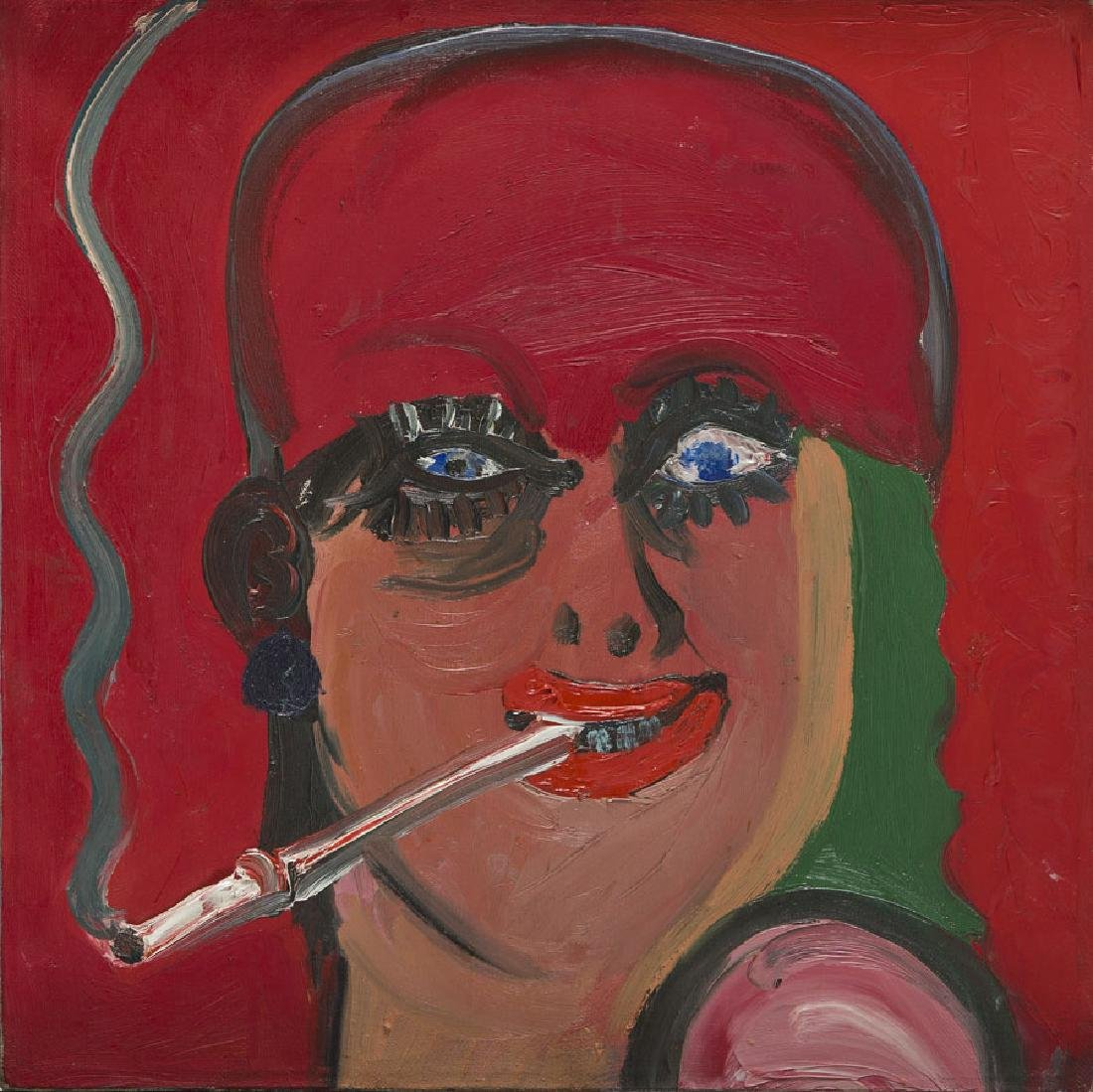 "Szymon Urbanski (b. 1963) ""Bloody Mary"", 1988; oil on"