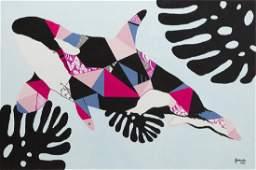 Zuzanna Jankowska (b. 1991) Patchwork, 2017, acrylic on