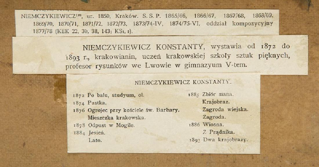 Konstanty Niemczykiewicz (1848 - 1917) Homestead, 1894; - 4