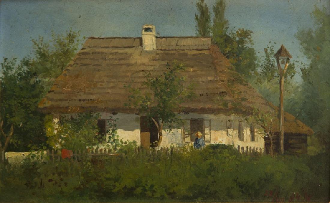 Konstanty Niemczykiewicz (1848 - 1917) Manor House; oil