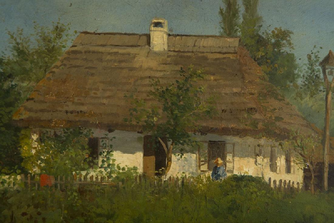 Konstanty Niemczykiewicz (1848 - 1917) Manor House; oil - 6