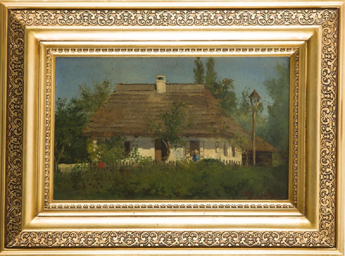 Konstanty Niemczykiewicz (1848 - 1917) Manor House; oil - 8