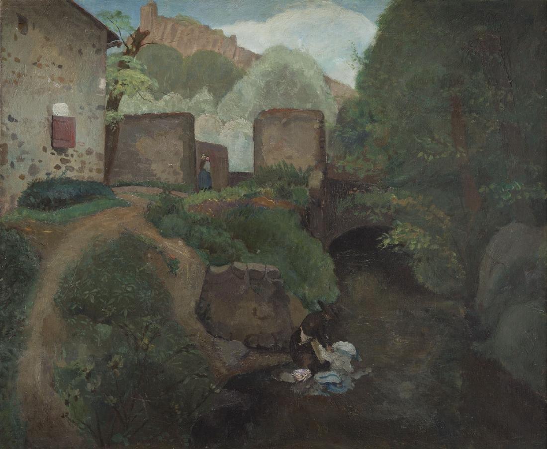 Jacques Gotko (1900 - 1944) Landscape; oil on canvas,
