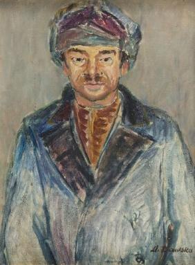 "Maria Dawska (1909 - 1993) ""Nikifor, Portrait"", 1948;"