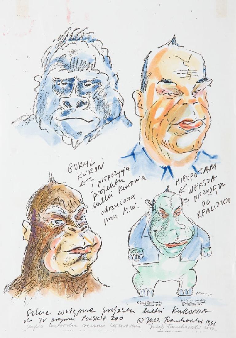 Jacek Frankowski (b. 1949) Gorilla/Hippopotamus -