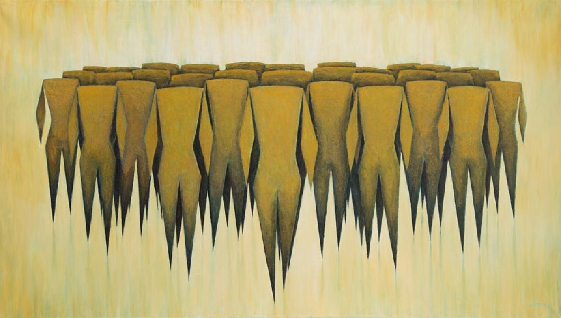 Lukasz Czernicki (b. 1980), Walking, 2017, mixed media