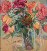 Wanda Chelmonska (1891 - 1971) Flowers in vase