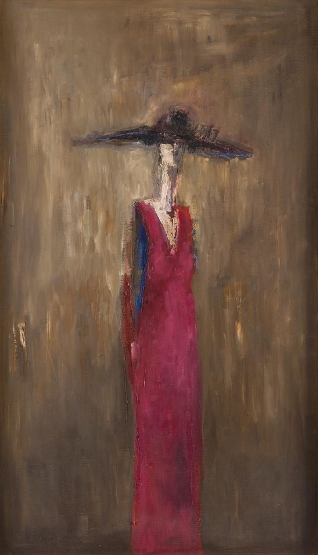 """Daniel Jerzy de Tramecourt (1950 - 2015) """"Woman in a"""