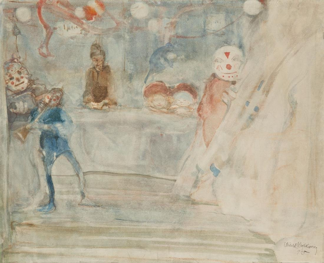 Witold Wojtkiewicz (1879 - 1909) Clowns, 1905