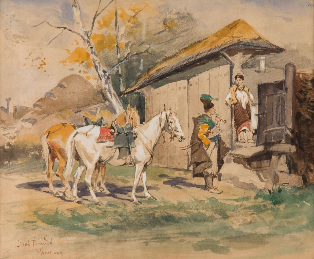 Jozef Brandt (1841 - 1915) Advances, circa 1875