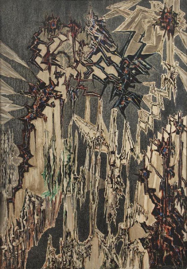 """Jerzy Tchorzewski (1928 - 1999), """"Painting 59/24"""","""