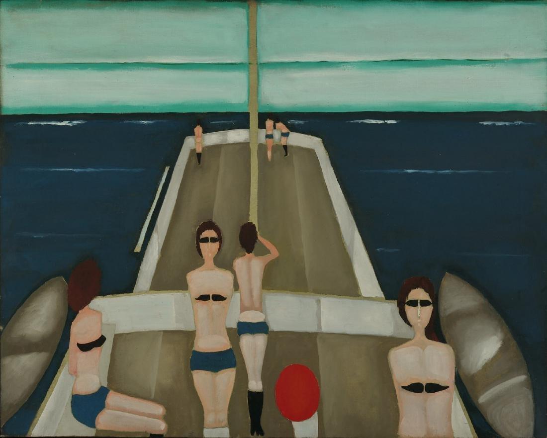 """Jerzy Nowosielski (1923 - 2011), """"Slave ship"""", 1982"""